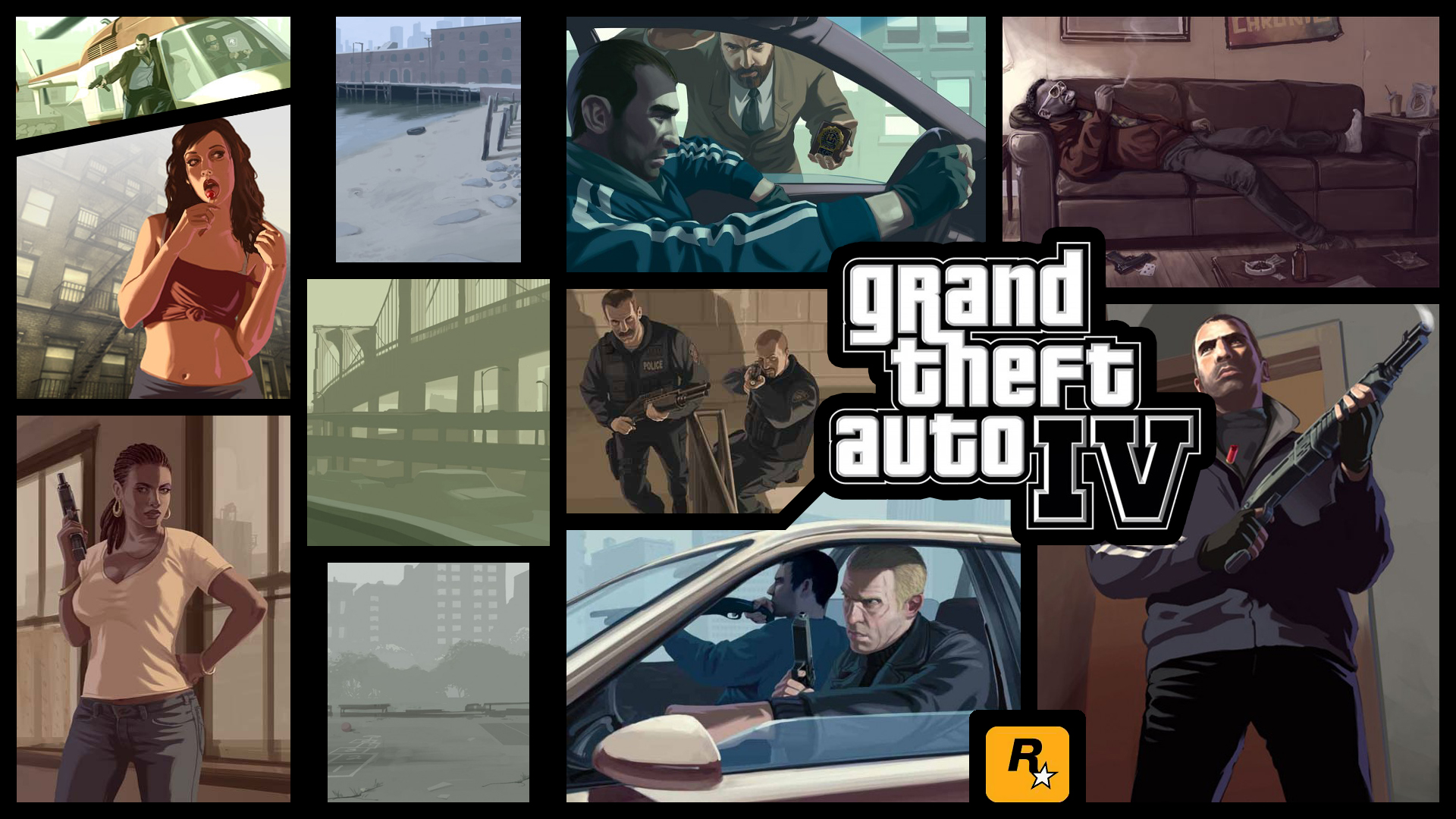 a mix of gta grand theft auto wallpapers c town gaming. Black Bedroom Furniture Sets. Home Design Ideas
